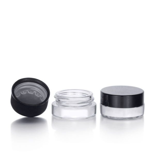 3ml transparent glass jar